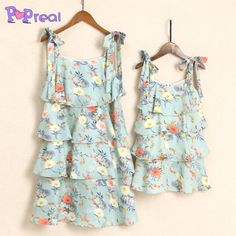 2616f0b8 Buy Mom Girl Light Green Floral Prints Summer Dress online with cheap  prices and discover fashion