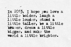 this year, I hope you...