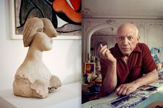 <strong>FACE VALUE</strong><br> Pablo Picasso's <em>Bust of a Woman,</em> 1931. <em>Opposite,</em> the artist in Cannes, September 11, 1956. Left, by François Halard/The Condé Nast Archive/© 2016 Estate of Pablo Picasso/ARtists rights Society (A.R.S.), New York; Right, by Arnold Newman/Getty Images.