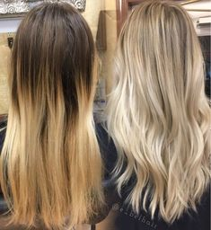 Image result for before and after blonde balayage
