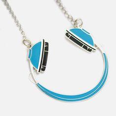 My design inspiration: Headphones Necklace Blue on Fab.