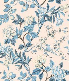 Samantha's Bouquet Toile Wallpaper A toile wallpaper ...