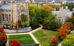 """""""Beautiful view of the Law Quad on the #umich campus!"""" I go to Howarts. Nbd."""