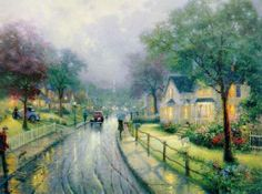 thomas kinkade hometown memories paintings--I love how he truly does capture my memories of childhood