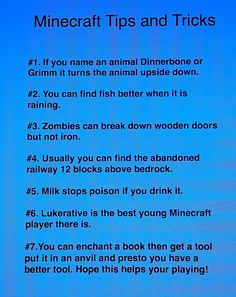 "Tips+Tricks for Minecraft - Why they didn't put this I don't know, but if you name a sheep ""jeb_"" it will be rainbow"