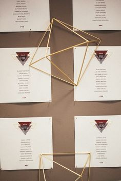 geometric seating chart