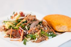 Salat med pulled pork