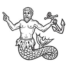 This would make a classic merman tattoo