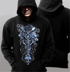 Cool World of Warcraft hoodie design Priest pattern mens black pullover sweatshirts plus size