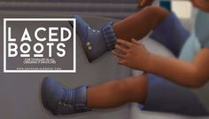 Laced Boots for Toddlers - Onyx Sims