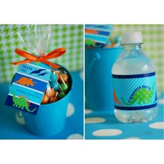 Dinosaur Birthday Party Printable drink wrap