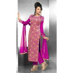 Party Wear Georgette Pink Salwar Suit - FFP15-2044