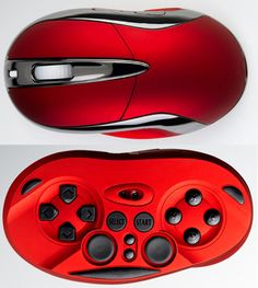50% Mouse, 50% Game controller.  #innovation #gadget #technology #mouse #gamecontroller