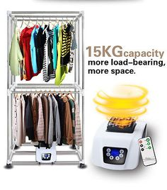 Portable Electric Clothing Dryer 1000W Heater Folding Drying Rack 33LB Capacity
