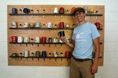 Christian Ward and the Snug Mug Spoon Wall