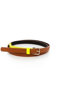 Kanya Belt / ShopSosie #leather #belt #accessories #neon #yellow #shopsosie