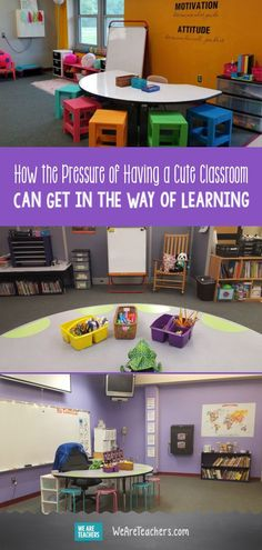 How the Pressure of Having a Cute Classroom Can Get in the Way of Learning. Everywhere you look there is another teacher with a great classroom. There is absolutely nothing wrong with adding in a new organizational unit or festive decorations to your cla We Are Teachers, First Year Teachers, Ways Of Learning, Learning Spaces, Classroom Setting, Classroom Decor, Classroom Design, Classroom Displays, Teaching Kindergarten