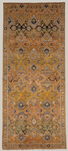 Polonaise Carpet 17th century Geography: Made in Iran, Isfahan or Kashan Rug: H. 160 in. (406.4 cm) W. 69 5/8 in. (176.8 cm)