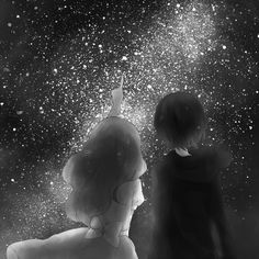 She knew all about the stars, she didn't remember who had taught her, or how she knew them, but they were familiar friends and she studied them every night. It was the one thing she could educate him on.