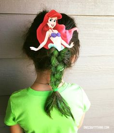 Crazy Hair Day at School: The Little Mermaid | OneCraftyThing.com