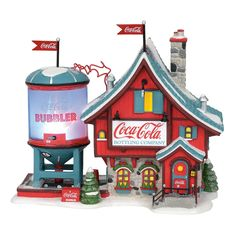 Department 56, Coca Cola Bottling Company, Coca Cola Christmas, Christmas Stuff, Christmas Holidays, Christmas Ideas, Coca Cola Decor, Teacher Signs, Santas Workshop