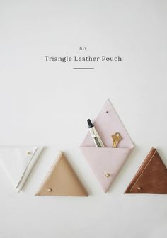 For the person who's always losing stuff, these leather pouches will keep tiny treasures organized. | 33 Last-Minute DIY Gift Ideas For Everyone You Love