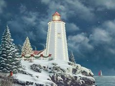 Unknown Christmas Lighthouse