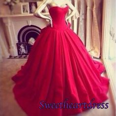 Prom 2015, elegant strapless wine red chiffon prom dress, ball gown, wedding dress, sweetheartdress.s...