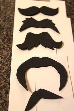 Mustache printable template