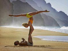 61 ideas for fitness motivation couples yoga poses Yoga For Two, Yoga Poses For Two, Couples Yoga Poses, Partner Yoga Poses, Paar Workout, Beach Yoga, Workout Memes, Types Of Yoga, Yoga Retreat
