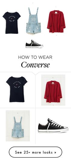 """Casual"" by roossoontjens on Polyvore featuring Bershka, Tommy Hilfiger and Converse"