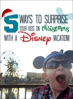 Surprising your kids with a Disney vacation for Christmas It's that time of year again; time to start looking for gifts for the children or grandchildren.What's that?The kids already have more toys than they know what to do with?I can relate.Maybe this year, instead of more plastic toys that will be forgotten in backs of …