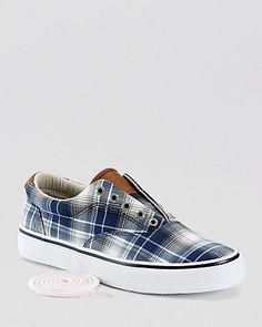 Sperry Top-Sider Striper Plaid Laceless Sneakers | Bloomingdales-summer