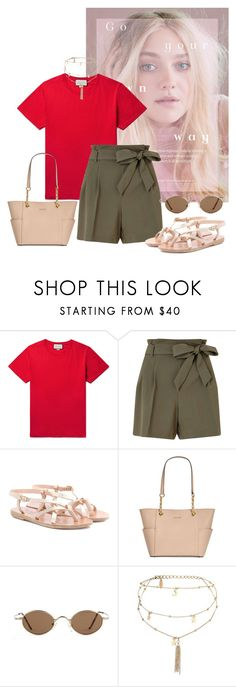 """Untitled #2124"" by mygenuca ❤ liked on Polyvore featuring Gucci, Miss Selfridge, Ancient Greek Sandals, Calvin Klein and Ettika"