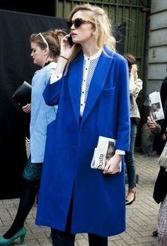 boxy cut; shawl collar adds femininity