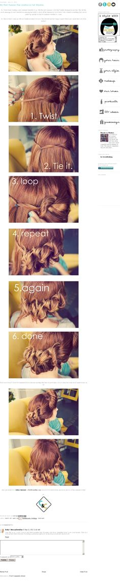 cute hairstyle for summer! love the back, but not so much on the bangs.