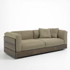 Contemporary garden sofa - STAVE by Piero Lissoni - Bonacina Pierantonio