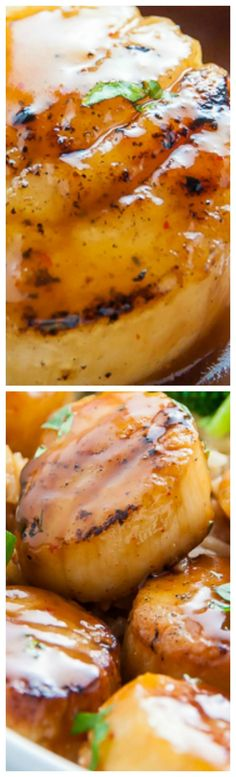 Honey-Glazed Scallops ~ Sweet and just a little spicy, they are ready in just 15 minutes!