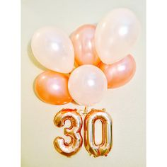 Rose Gold Balloon Letters Rose Gold 30 Rose Gold 30