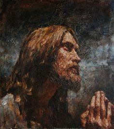 """Agony in the Garden"" variation 90х80 cm, oil on canvas, 2013 Anatoly Shumkin"