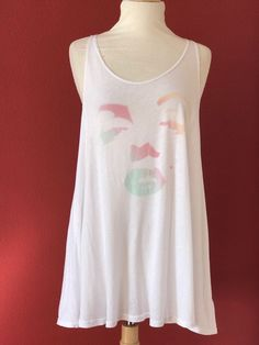 HTF! WILDFOX Marilyn Monroe Graphic Print Flare Tank Top Size S #Wildfox #TankCami #Casual