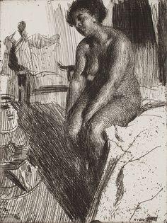 Anders Zorn - Sitting negress