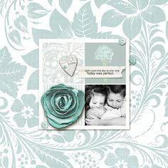One perfect day by Kiki00star  Love the beautiful background paper.