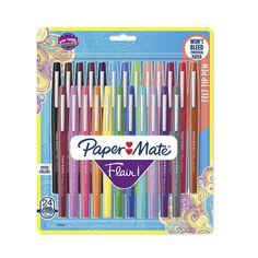 Jun 2019 - Paper Mate Felt Tip Marker Pens Multicolor Ink, School Supplies For Teachers, Back To School Supplies, Office Supplies, Art Supplies, Drawing Simple, Felt Tip Markers, Marker Paper, Gel Pens, Barbie