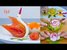 5 Creative Ideas for MasterChef Food Garnishes - YouTube Creative Food Art, Creative Ideas, Finger Food Appetizers, Appetizer Recipes, Food Garnishes, Garnishing, Food Carving, Food Decoration, Gordon Ramsay