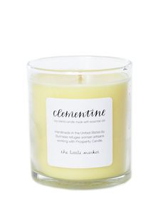 This candle from The Little Market is hand-poured by women refugees. Relax with the calming fragrance of sweet clementine.