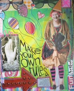 """Make Your Own Rules"" art journal page Dori Patrick/Dreaming Bear Designs"