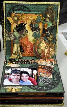By Jane Tregenza Mini Albums, Mini Scrapbook Albums, Scrapbook Journal, Papel Scrapbook, Graphic 45, Up Book, Book Art, Altered Books, Altered Art