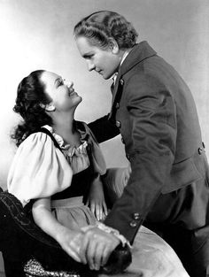 Fredric March with Olivia De Havilland in Anthony Adverse 1936