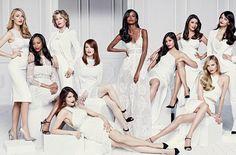 Blake Lively, Zoe Saldana, Jane Fonda, Laetitia Casta, Julianne Moore, Liya Kebede, Frida Pinto, Eva Longoria, Natasha Poly, and Aishwarya Rai Bachchan for L'Oreal Paris